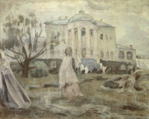 Ghosts - By Borisov-Musatov, Viktor Elpidiforovich (1870-1905) - Russia - Symbolism - tempera on canvas - 1903 - State Tretyakov Gallery / Culture Images / Universal Images Group