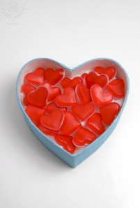 Heart shaped box of soft candy hearts for Valentine's Day Nico Tondini / Robert Harding World Imagery / Universal Images Group
