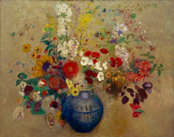 Redon / Bouquet of Flowers / 1909 Redon, Odilon 1840-1916. 'Bouquet de Fleurs' (Bouquet of Flowers) 1909. Oil on canvas, 81 x 100 cm. Private Collection.                 akg-images / Universal Images Group