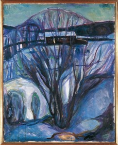 Norway, Oslo, Winter Landscape, Ekely Edvard Munch (1863-1944), Winter Landscape. Ekely, 1923-24. De Agostini Editorie / M. CARRIERI/ Universal Images Group